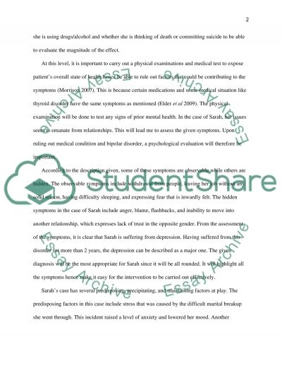 Case study of mental health essay example