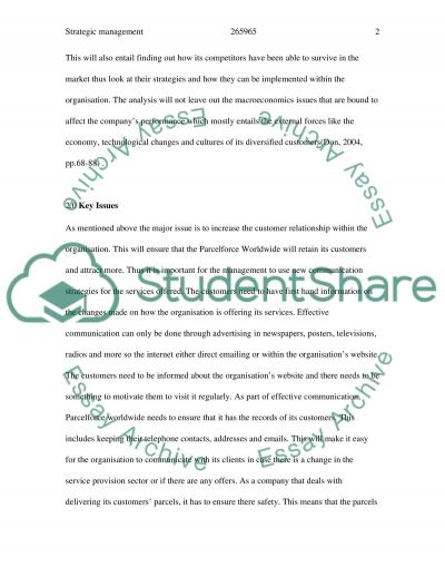 Strategic Management: customer loyalty essay example