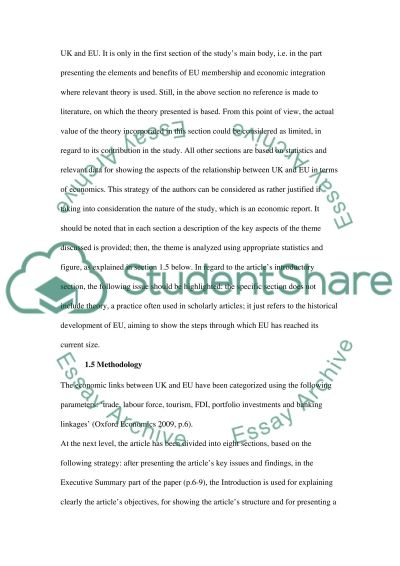 Review an article essay example