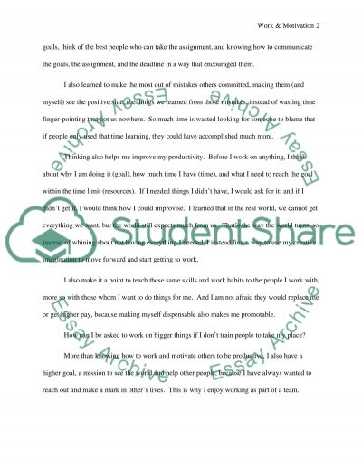 Job satisfaction paper essay example