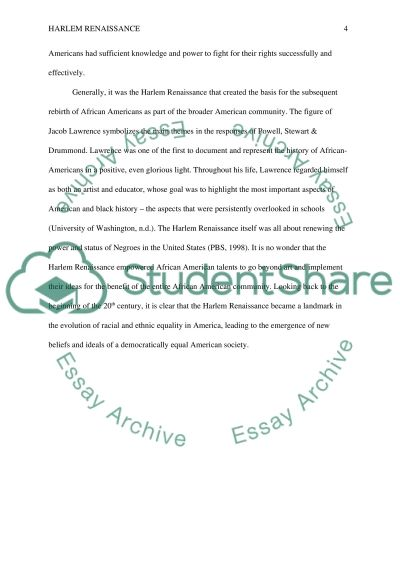 harlem renaissance and the civil rights movement essay  civil rights movement essay example text preview