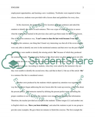 class observation report essay example topics and well written class observation report essay example