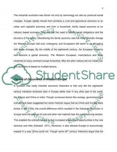 Industrial Revolution Essay essay example