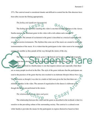 Video Analysis Paper