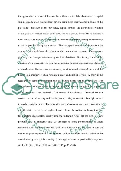 investment plan Essay example