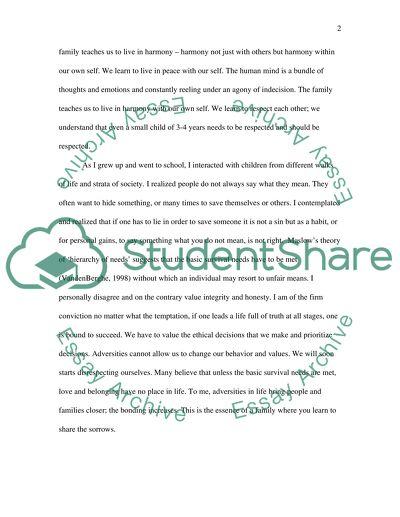 core values essay introduction