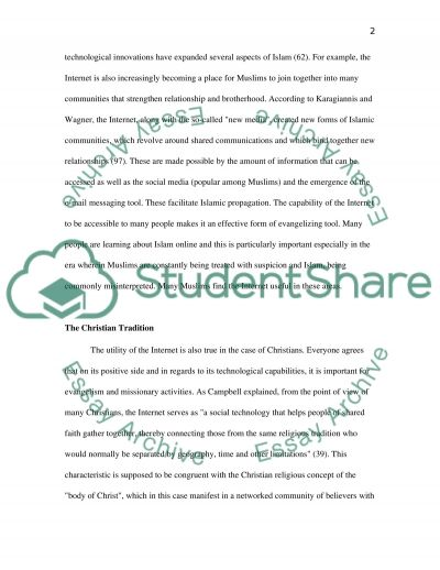 The Internet from Christian and Islamic Perspectives essay example