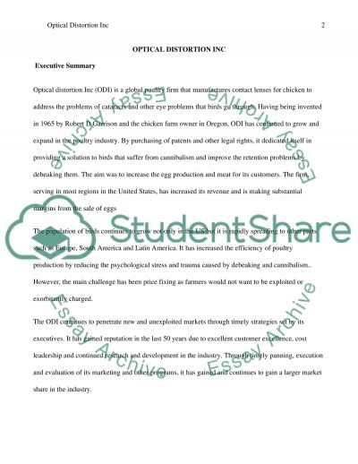 Optical Distortion, Inc essay example