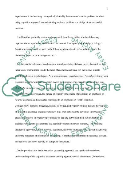Social psychology essay example