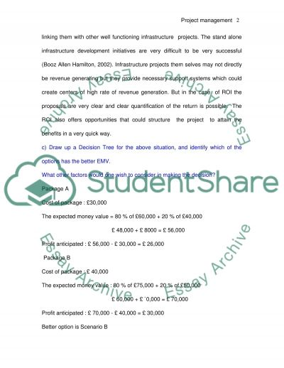 The project management as the system of managing sequence of events essay example