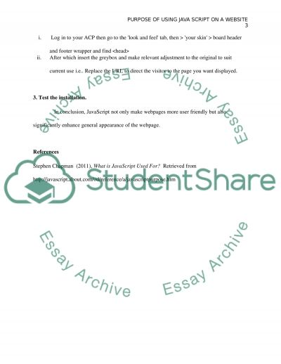 Supplemental Exercise essay example