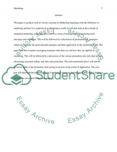 IP4 Marketing essay example
