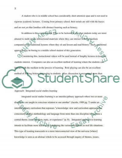 Teaching in Content Area essay example