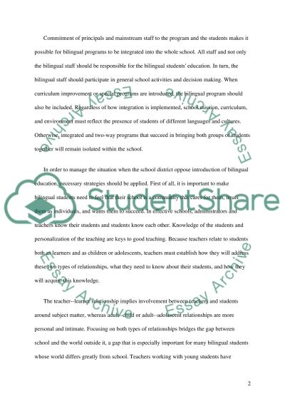 Effective Programs For Hispanic Students essay example
