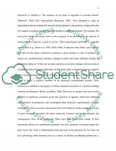 Situational Price Sensitivity in Marketing essay example