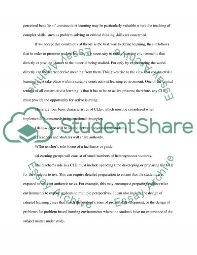 Cognition and Instruction essay example