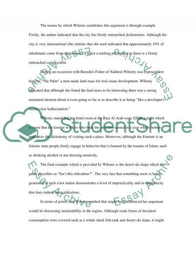 ARGUMANET ANALYSIS essay example