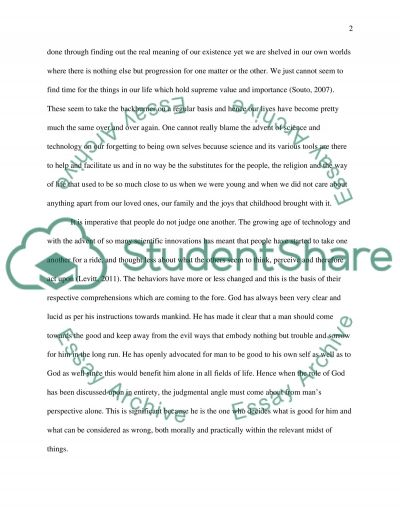 The Richness of Spiritual Companionship essay example