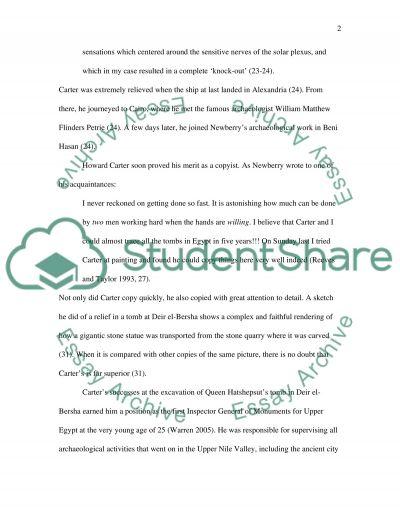Howard Carter essay example