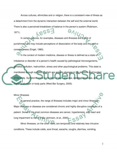 Clinical Assessment in Minor Illness essay example