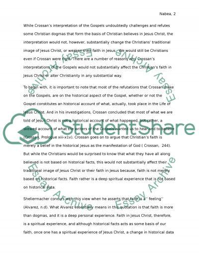 FINAL EXAM FIRST ESSAY essay example