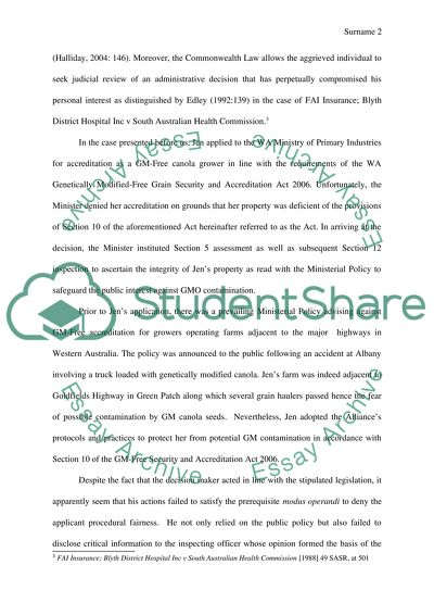 Administrative Law essay for law students