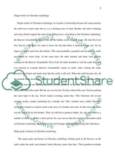 World mythology essay example