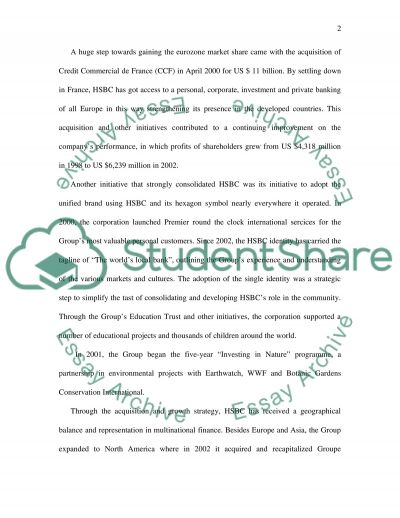 The Hongkong and Shanghai Banking Corporation essay example