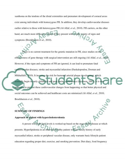 Familial Hypercholesterolemia Term Paper essay example