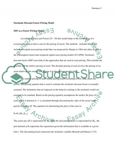 Empirical Asset Pricing Theory essay example