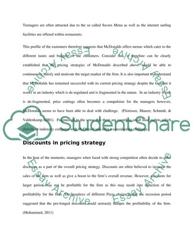 Pricing and Distribution in Marketing Decisions for McDonalds Co