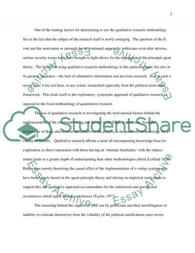 Qualitative and Quantitative Research essay example