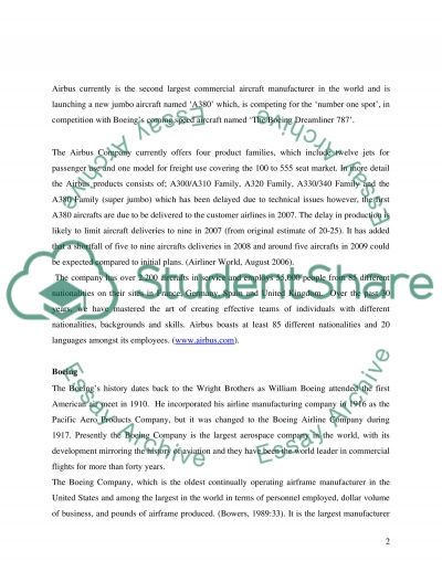 Aircraft Industry essay example