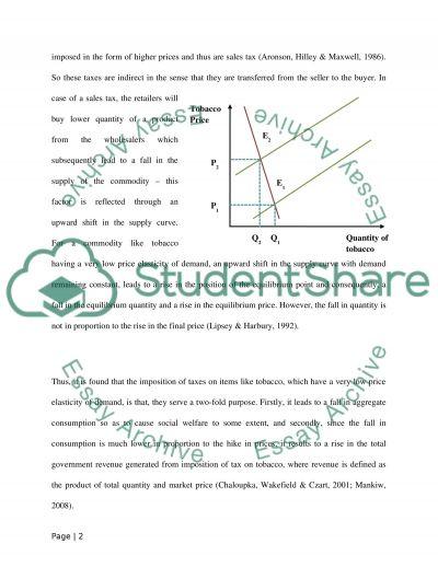 Economics essay example