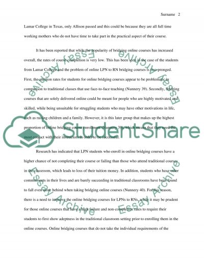 Nursing bridge programs essay example