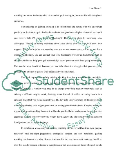 Process essay how to quit smoking admin assistant resume skills