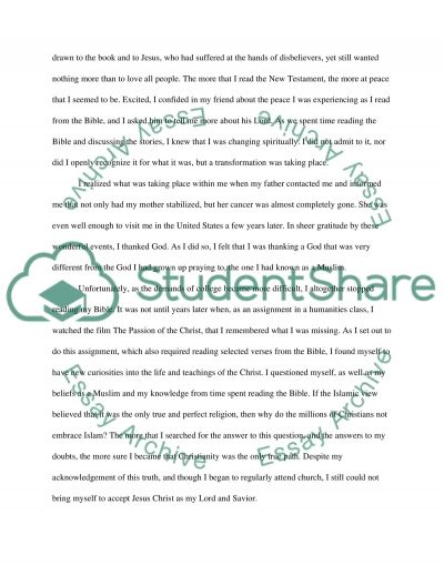 From Islam to Christianity Essay example