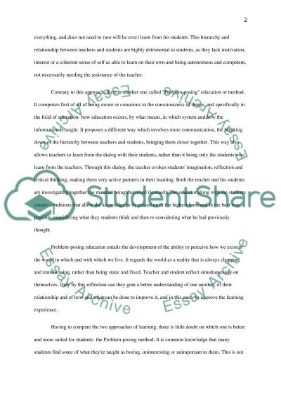 Conventional and Evolutionary Education essay example