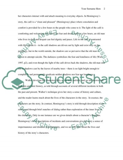 Comparison of Two Short Stories Essay example