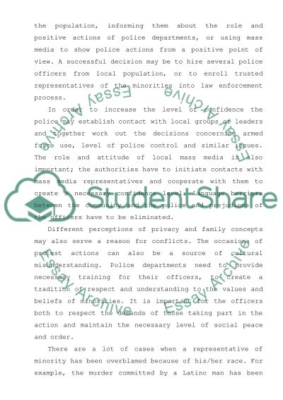 Law Enforcement Contact Essay example