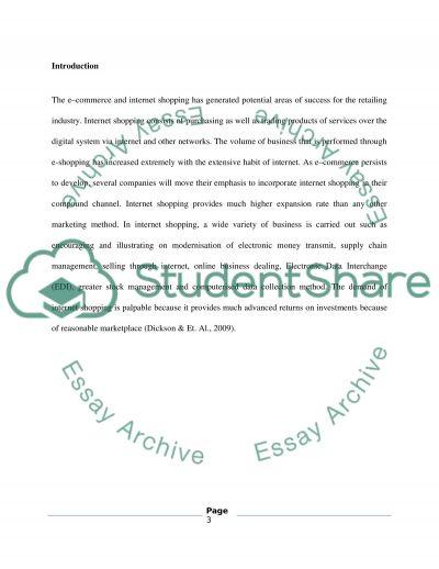 MKT3018 E-retailing essay example