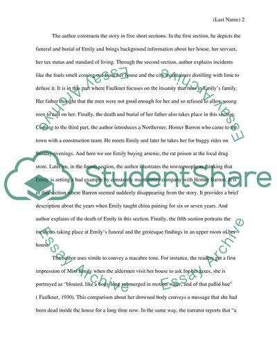 Short Story Analysis Essay
