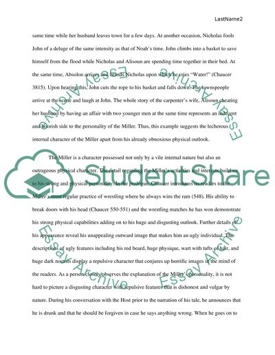 The Canterbury Tales Writing Assignment Essay Example  Topics And  The Canterbury Tales Writing Assignment English Reflective Essay Example also Essays Written By High School Students  Science Essays Topics