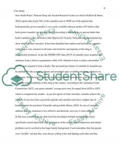 A Mental Health Case Study essay example