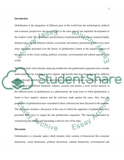 Globalization And Anti Globalization Essay  Custom Paper Writing   Globalization And Anti Globalization Essay  Possible Topics For An  Essay On Globalization Describe The Social  Written Essay Papers also Example Of A Good Thesis Statement For An Essay  Apa Format Essay Paper