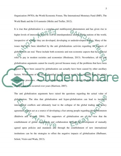 arguments against to globalization essay example Argumentative essay: legalization of marijuana  legalization of marijuana_ supportive arguments a number of examples are a part of the society that makes it clear.