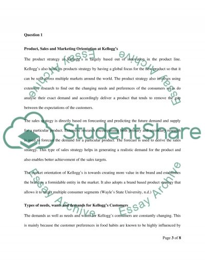 Kelloggs Marketing Essay essay example