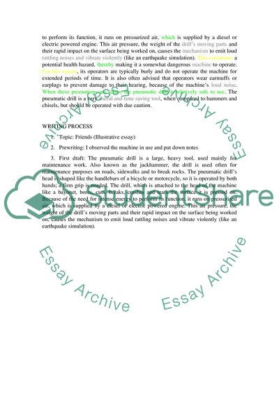 Illustration essay (200 words and See assignment listed in discription below