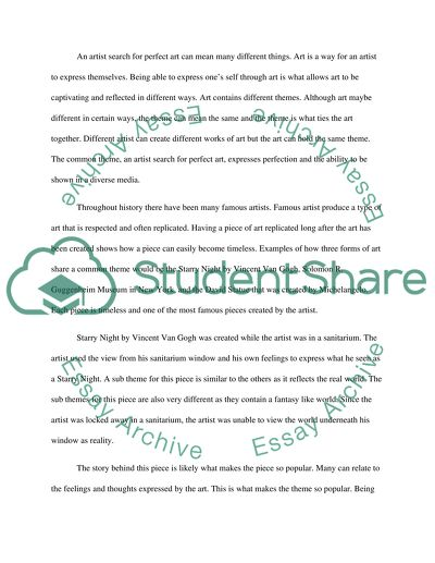 Common Themes Paper and Presentation