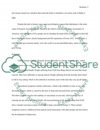 Expository Essay About Friendship General Anxiety Disorder Essay On Self Awareness also Fire And Ice Essay General Anxiety Disorder Essay Example  Topics And Well Written  Favorite Person Essay
